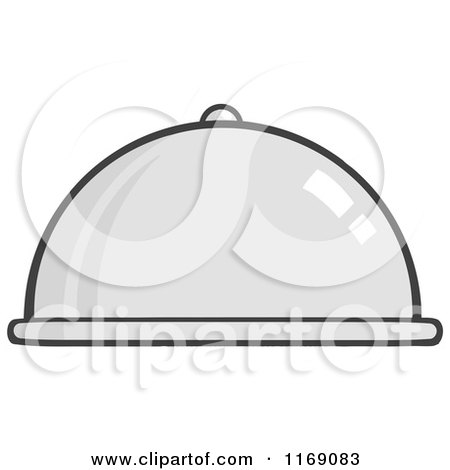 Cartoon of a Cloche Platter - Royalty Free Vector Clipart by Hit Toon