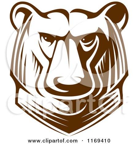 Clipart of a Kodiak Bear Head 2 - Royalty Free Vector Illustration by Vector Tradition SM