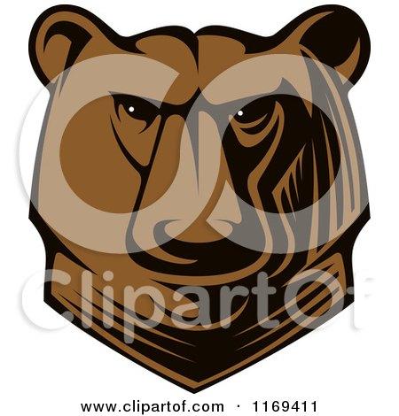 Clipart of a Kodiak Bear Head - Royalty Free Vector Illustration by Vector Tradition SM