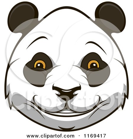 Clipart of a Happy Giant Panda Face - Royalty Free Vector Illustration by Vector Tradition SM