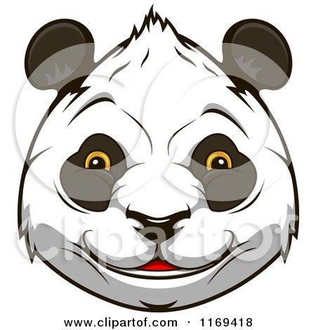 Clipart of a Happy Giant Panda Face 2 - Royalty Free Vector Illustration by Vector Tradition SM