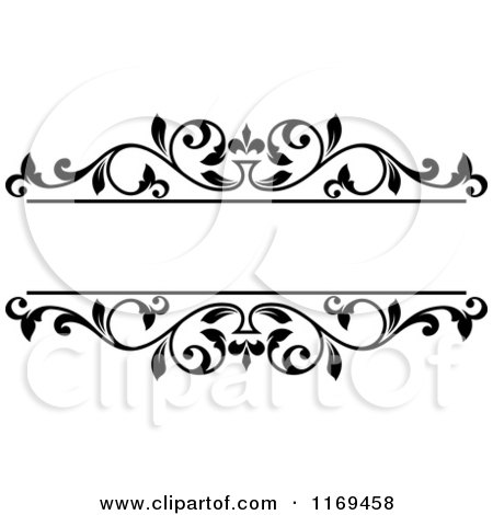 black and white floral frame 5 by vector tradition sm