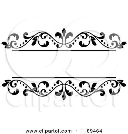 Flower Frame Black And White Black And White Floral Frame 3