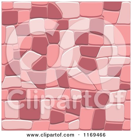 Clipart of a Pink Seamless Stone Background - Royalty Free Vector Illustration by Vector Tradition SM
