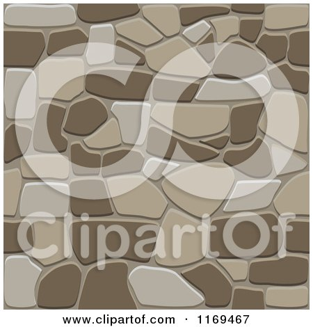 Clipart of a Brown Seamless Stone Background - Royalty Free Vector Illustration by Vector Tradition SM