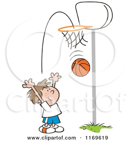 Royalty-Free (RF) Clipart of Shooting Hoops, Illustrations ...
