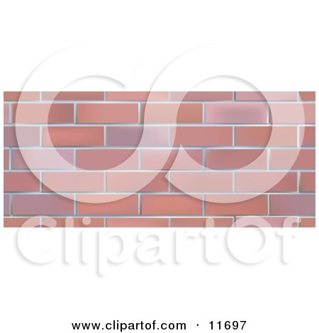 Brick Wall Background Clipart Illustration