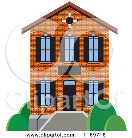 Brick Two Story House Or Building