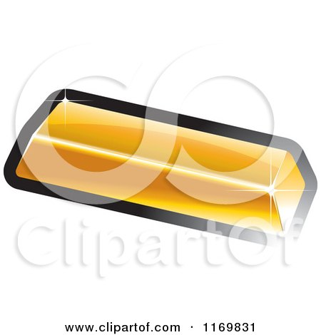 Clipart of a Gold Bar - Royalty Free Vector Illustration by Lal Perera