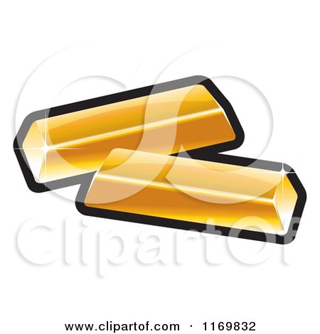 Clipart of Gold Bars - Royalty Free Vector Illustration by Lal Perera