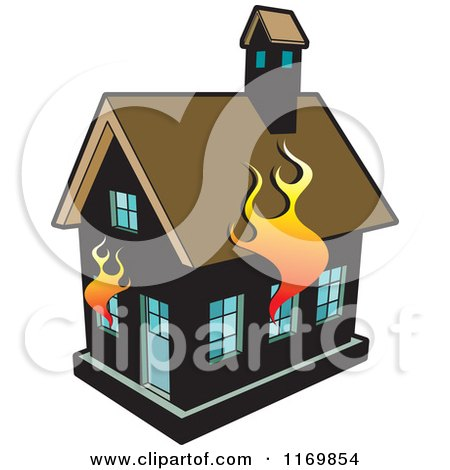 Royalty-Free (RF) Burning House Clipart, Illustrations ...