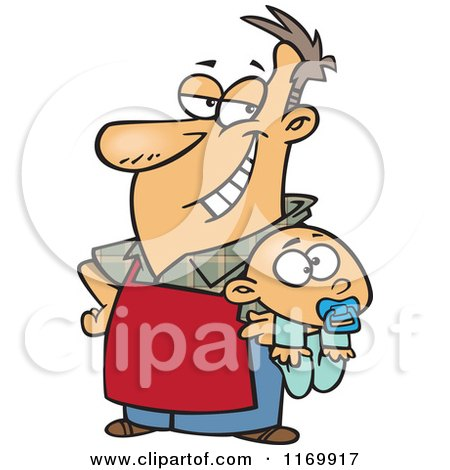Royalty-Free (RF) Father Holding Baby Clipart, Illustrations ...