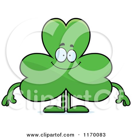 Cartoon Of A Happy Shamrock Mascot Royalty Free Vector Clipart