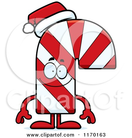 Cartoon of a Happy Candy Cane Mascot - Royalty Free Vector Clipart by Cory Thoman