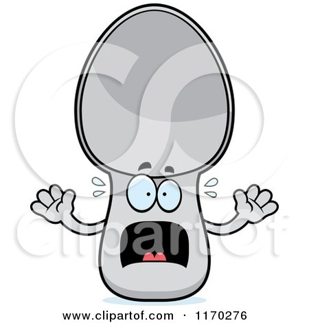 Cartoon of a Screaming Spoon Mascot - Royalty Free Vector Clipart by Cory Thoman