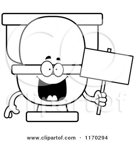Cartoon of a Happy Toilet Mascot - Royalty Free Vector Clipart by ...
