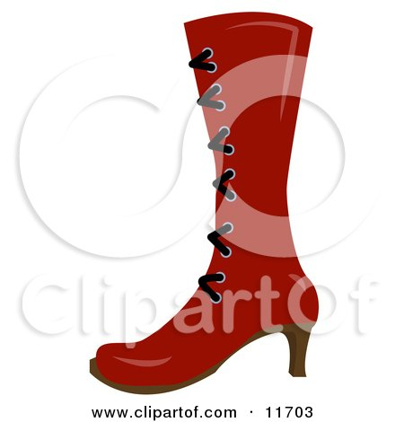 High Red Boot With Laces and a Heel Posters, Art Prints