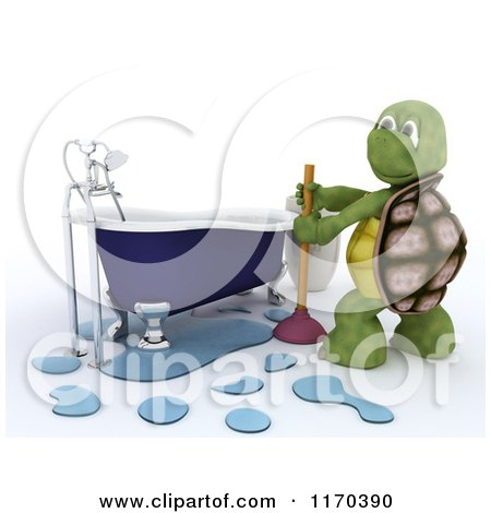 Clipart Illustration Of A Shower Head And Hose Attachment