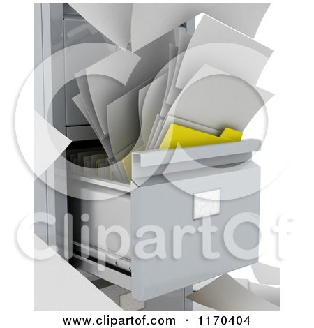 messy file cabinet. 3d Messy File And Papers In A Cabinet By KJ Pargeter E