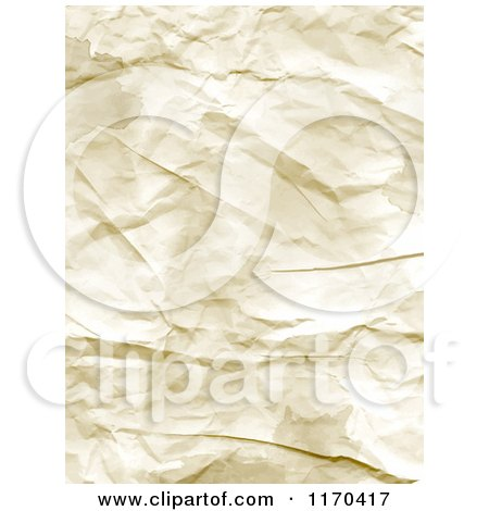 Clipart of a Texture of Wrinkled Paper - Royalty Free Vector Illustration by KJ Pargeter