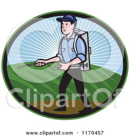 Pesticide Spraying Clip Art