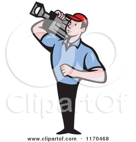 Man Cartoon Video Cartoon Movie Camera Man