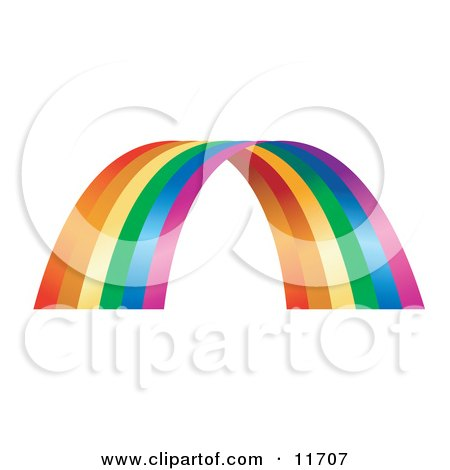 Colorful Rainbow Arch Clipart Illustration by AtStockIllustration
