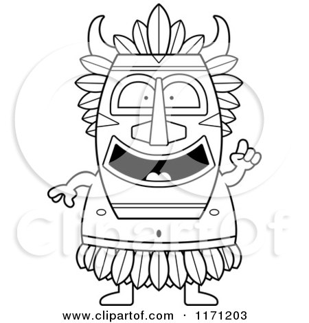 Cartoon Clipart Of A Smart Witch Doctor with an Idea - Vector Outlined Coloring Page by Cory Thoman