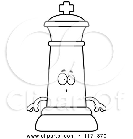 Cartoon Clipart Of A Surprised Black Chess King