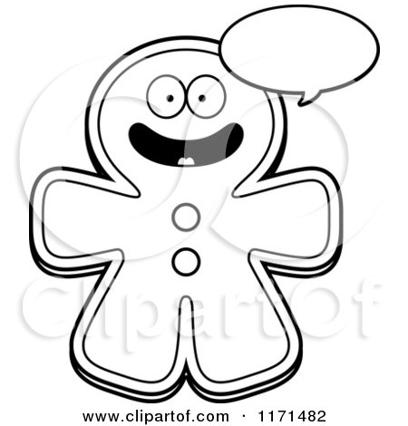 Gingerbread Man and Woman Coloring Page