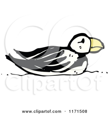 Cartoon of a Puffin - Royalty Free Vector Illustration by lineartestpilot