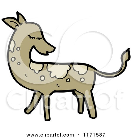 Cartoon of a Deer - Royalty Free Vector Illustration by lineartestpilot