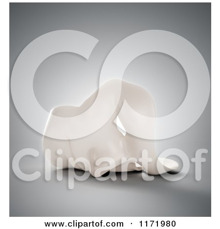Clipart of a 3d White Human Face Mask Resting on a Surface, over Gray - Royalty Free CGI Illustration by Mopic