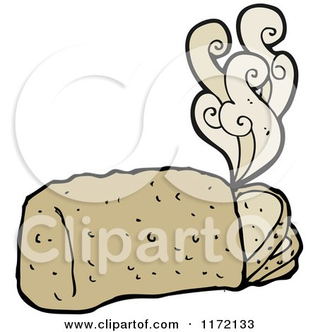 Clipart of Fresh Hot Bread - Royalty Free Vector Illustration by lineartestpilot