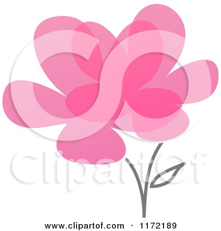Clipart of a Pink Abstract Flower - Royalty Free Vector Illustration by elena
