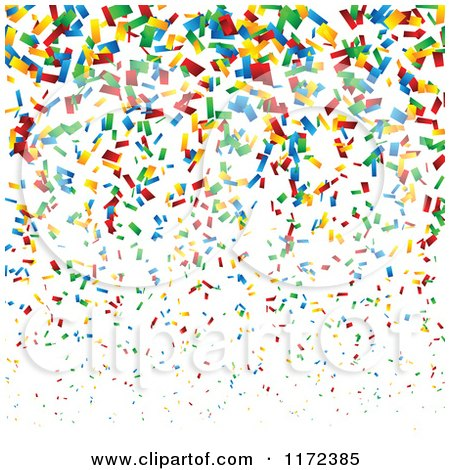 Clipart of a Colorful Confetti Background - Royalty Free Vector Illustration by vectorace