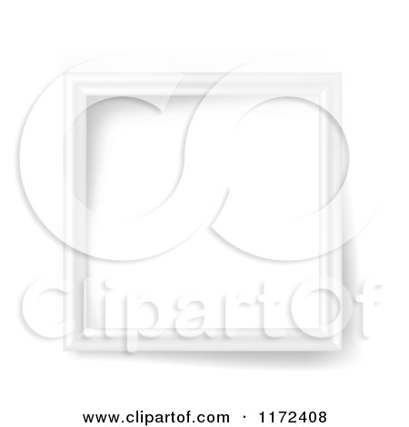 Clipart of a 3d White Square Frame and Shadows - Royalty Free Vector Illustration by vectorace
