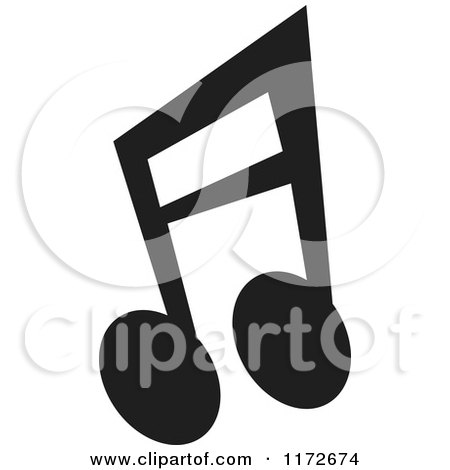 Clipart of a Black Music Eighth Notes - Royalty Free Vector Illustration by Andy Nortnik