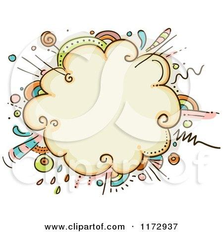 Cartoon of a Burst Explosion Frame - Royalty Free Vector Clipart by BNP Design Studio