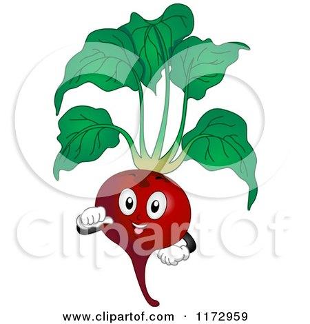 Cartoon of a Proud Beet Mascot - Royalty Free Vector Clipart by BNP Design Studio