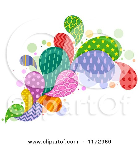 Cartoon of a Colorful Patterned Splash - Royalty Free Vector Clipart by BNP Design Studio