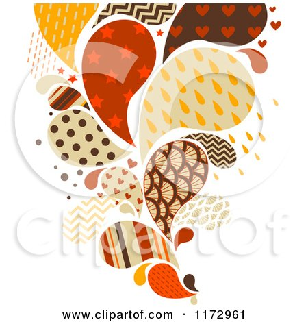 Cartoon of a Retro Colored and Patterned Splash - Royalty Free Vector Clipart by BNP Design Studio