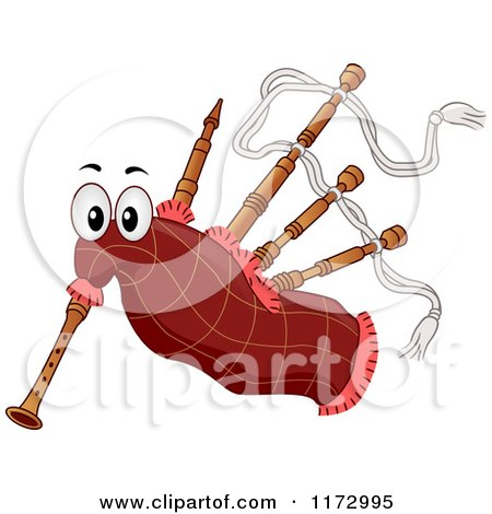 Cartoon of a Bagpipes Mascot - Royalty Free Vector Clipart by BNP Design Studio