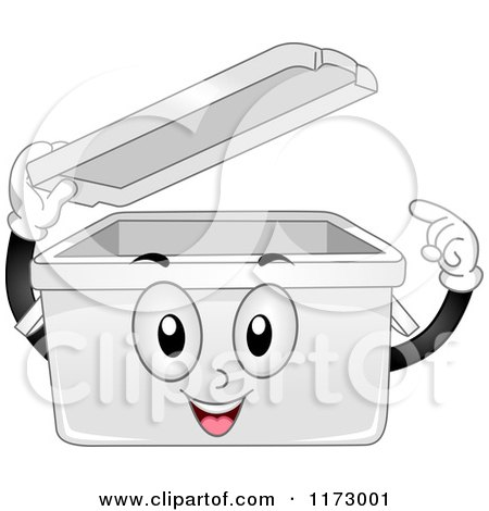 Cartoon of a Desktop Valet Mascot Opening a Drawer - Royalty Free ...