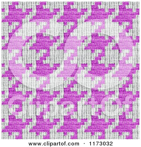 Clipart of a Seamless Pink and White Houndstooth Pattern - Royalty Free CGI Illustration by Arena Creative