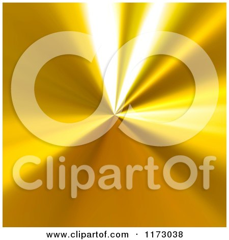 Clipart of a Reflective Gold Background and Radial Highlights - Royalty Free CGI Illustration by Arena Creative