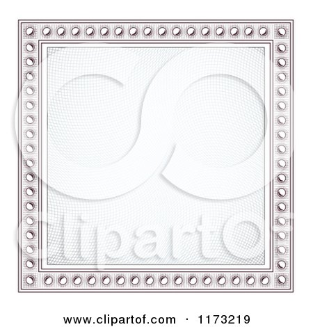 Clipart of a Certificate Frame Design 2 - Royalty Free Vector Illustration by vectorace