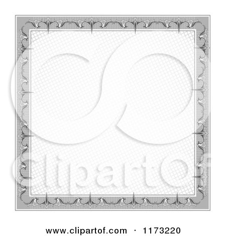 Clipart of a Certificate Frame Design 3 - Royalty Free Vector Illustration by vectorace