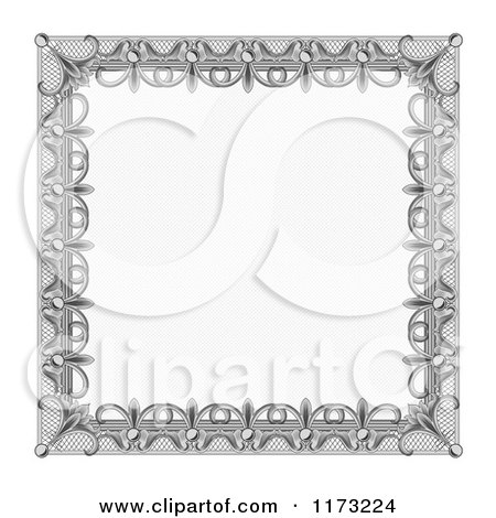 Clipart of a Certificate Frame Design 4 - Royalty Free Vector Illustration by vectorace