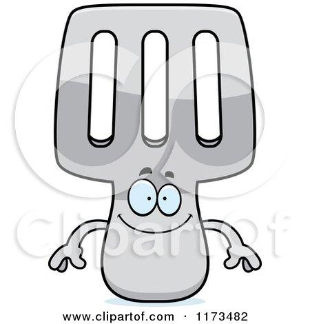 Cartoon of a Happy Spatula Mascot - Royalty Free Vector Clipart by Cory Thoman